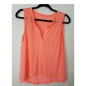 American Eagle Womens Blouse Size XS Neon Pink